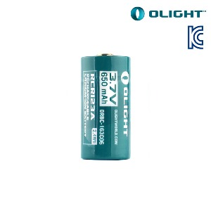 오라이트 RCR123A 충전용 배터리 (KC인증/650mAh) - Olight Rechargable RCR123A Battery (650mAh)